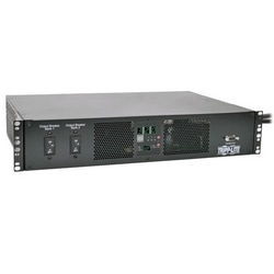 TAA-Compliant 7.4kW Single-Phase ATS/Metered PDU, 230V Outlets (16 C13 & 2 C19), 2 IEC 309 32A Blue Cords, 2U Rack-Mount