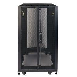 25U SmartRack Shallow-Depth Rack Enclosure Cabinet with Doors, Side Panels and Heavy-Duty Casters