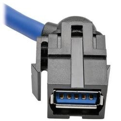 USB 3.0 SuperSpeed Keystone Jack Type-A Extension Cable (M/F), 3 ft.