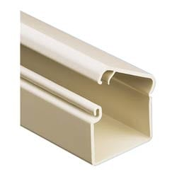 Office Furniture Raceway Single Channel, Low Voltage 1-piece Raceway With Adhesive 6FT., Office Beige