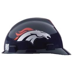 NFL Hard Hat Protective Cap, Denver Broncos, V-Guard, 1-Touch, Polyethylene Shell Material, ANSI/ISEA Z89.1-2014 (Class E), CSA Z94.1-2005 (Class E)