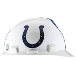 NFL Hard Hat Protective Cap, Indianapolis Colts, V-Guard, 1-Touch, Polyethylene Shell Material, ANSI/ISEA Z89.1-2014 (Class E), CSA Z94.1-2005 (Class E)