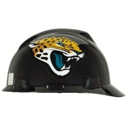 NFL Hard Hat Protective Cap, Jacksonville Jaguar, V-Guard, 1-Touch, Polyethylene Shell Material, ANSI/ISEA Z89.1-2014 (Class E), CSA Z94.1-2005 (Class E)