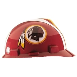 NFL Hard Hat Protective Cap, Washington Redskins, V-Guard, 1-Touch, Polyethylene Shell Material, ANSI/ISEA Z89.1-2014 (Class E), CSA Z94.1-2005 (Class E)