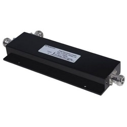 """Directional Coupler, Low PIM, 10 dB, 380 to 2700 MHz Frequency, N Female, Less than or Equal to -155 dBc, IP67, 8.39"""" Length x 3"""" Width x 0.87"""" Height, Black Color"""