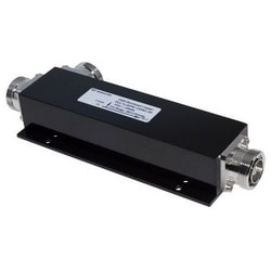 """Directional Coupler, Low PIM, 15 dB, 380 to 2700 MHz Frequency, 7-16 DIN Female, Less than or Equal to -155 dBc, IP67, 8.66"""" Length x 3.1"""" Width x 1.43"""" Height, Black Color"""