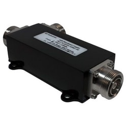 "Directional Coupler, Low PIM, 6 dB, 698 to 2700 MHz Frequency, 7-16 DIN Female, Less than or Equal to -155 dBc, IP67, 6.39"" Length x 3.25"" Width x 1.42"" Height, Black Color"