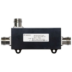 """Directional Coupler, Low PIM, 8 dB, 698 to 2700 MHz Frequency, 4.3-10 Female, Less than or Equal to -155 dBc, IP67, 6.43"""" Length x 3.3"""" Width x 1.4"""" Height, Black Color"""
