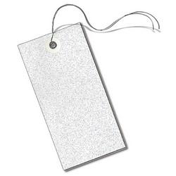 "Safety Tag, (BLANK AREA), 6.25"" x 3.125"", Tyvek, White, 100/PK"