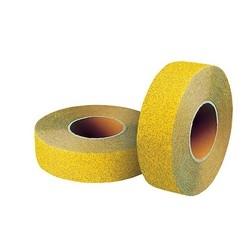 "Non-Skid Floor Tape, 2"" x 60-ft, PVC/Aluminum Oxide, Yellow"