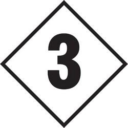 "NFPA Label, 3, 7.5"" x 7.5"", Polypropylene, Black on Clear"