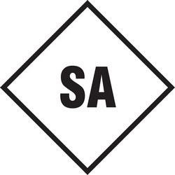 "NFPA Label, SA, 2"" x 2"", Polypropylene, Black on Clear"