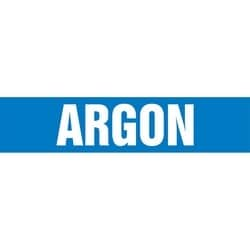 "Pipe Marker, ARGON, 25"" x 12"", Coiled Rigid Vinyl, White on Blue"