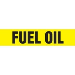 """Pipe Marker, FUEL OIL, 4"""" x 24"""", Dura-Polyester Vinyl, Black on Yellow"""