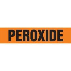 "Pipe Marker, PEROXIDE, 4"" x 24"", Dura-Polyester Vinyl, Black on Orange"
