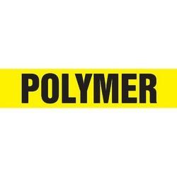 "Pipe Marker, POLYMER, 2.5"" x 12"", Dura-Polyester Vinyl, Black on Yellow"