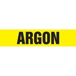 "Roll Form, Pipe Marker, ARGON, 12"" x 30-ft, Dura-Polyester Vinyl, Black on Yellow, RL"