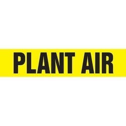 "Roll Tape, Pipe Marker, PLANT AIR, 2"" x 54-ft, Dura-Polyester Vinyl, Black on Yellow, RL"