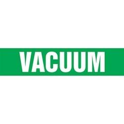 """Roll Tape, Pipe Marker, VACUUM, 1"""" x 54-ft, Dura-Polyester Vinyl, White on Green, RL"""