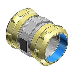 Compression Coupling, Raintight, Conduit Size 3 Inches, Material Zinc Plated Steel, For use with EMT Conduit