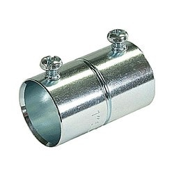 Set Screw Coupling, Concrete Tight, Conduit Size 1-1/2 Inch, Material Zinc Plated Steel, For use with EMT Conduit