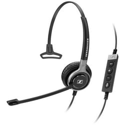 Headset, Single Side, Ultra Noise-Cancelling Microphone, Monaural UC HS with Call Control, 113 dB Sound Pressure, USB Connector, 2.9 MM Cable Length, Black with Silver Color