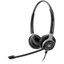 Headset, Double Side, Ultra Noise-Cancelling Microphone, Binaural CC and O HS, ED, Low impedance, 103 dB Sound Pressure, Easy Disconnect Connector, Black with Silver Color