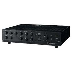 Mixer Power Amplifier, 120 Watt, 220 to 230 Volt AC, 50 Hertz to 20 Kilohertz, 9 Input, 2-Zone, Black Hairline ABS Plastic Resin Panel, Black Steel Plated Case
