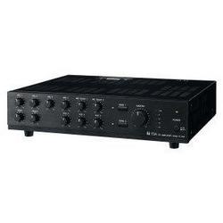 Mixer Power Amplifier, 240 Watt, 220 to 230 Volt AC, 50 Hertz to 20 Kilohertz, 9 Input, 2-Zone, Black Hairline ABS Plastic Resin Panel, Black Steel Plated Case