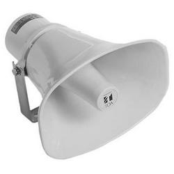 Horn Speaker, 30 Watt (100 Volt Line), 250 Hertz to 10 Kilohertz, -20 dB Sensitivity, IP65, 285 MM Width x 277 MM Depth x 227 MM Height, Off-White Aluminum