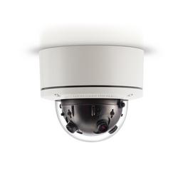 20 MP jour/nuit H.264/MJPEG 360 Gen 5 caméra, 10240 x 1920, 4 x 3,6 mm lentille de MP, Small Form Factor, Surface mount, intérieur/extérieur, IP66, IK-10, 18 et 48 V DC/24 V AC/PoE, PoE Powered Fan