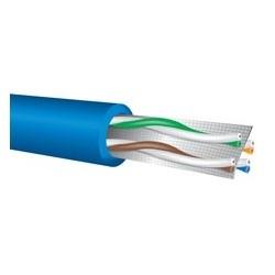Ethernet Cable, Cat 6, UTP, Plenum, 4-Pair, 23 AWG, Solid, Low Smoke Flame Retardant PVC Jacket, Black