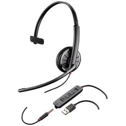 Corded USB Headset, Monaural, 3.5 mm USB Connector, 100 Hz to 8 KHz Microphone Frequency Response, Microsoft Lync