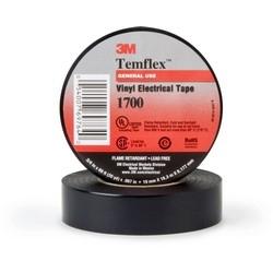 """Ruban isolant, Grade d'usage général, 60' Longueur x largeur 3/4"""" x 7 Mil Thk, 17 po-lb charge de rupture, chlorure de polyvinyle, sauvegarde, adhésifs de résine de caoutchouc, couleur noire"""
