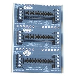 Three Module Snaptrack-type Base for 2MHLP Series