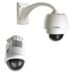Security Camera, IP, PTZ Dome, Pendant Mount, 28x PAL In-Ceiling, 360 Degree Lens, Day/Night, With Clear Bubble, White
