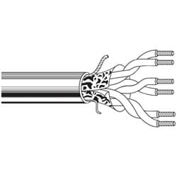 Multi-Conductor - Commercial Applications 2-Pair 18 AWG PP FS FRPVC Gray