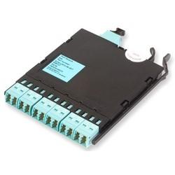 Interface Module, 12-Fiber, 0.35 dB Insertion Loss, 90 MM Width x 124 MM Depth x 12 MM Height, Turquoise Adapter