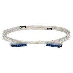 Cable Assembly, Cat 6A/Class EA, U/UTP, LSZH, Cassette to Cassette, 32.81' Length, White/Blue End Termination