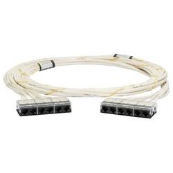 Cable Assembly, Cat 6A/Class EA, U/UTP, LSZH, Cassette to Cassette, 75.46' Length, White Cable, Black End Termination