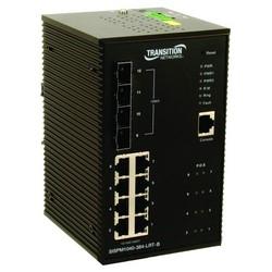"""Commutateur Ethernet, géré 12 durcie, 52-Port, à l'entrée de C.C de Volt 57, 1 ampère au relais de défaut 24 volts DC, 20 Watt, 3,8"""" largeur x 4,15"""" profondeur x 6,06"""" hauteur"""