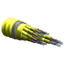 MIC Unitized Tight-Buffered, Interlocking Armored Cable, Plenum, 144 fiber, Single-mode (OS2)