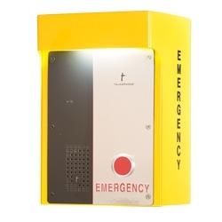 En saillie accessoire pour téléphone 400-série avec façade éclairée et signe et avec espace pour RF, cellulaire ou une unité VOIP. Fonctionne sur 120VAC ou 24VAC/DC.