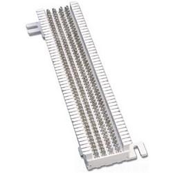 Block, S66, M Series 4x50, 50 Pair, Field Terminated, 500 Clips