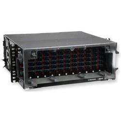 Closet Connector Housing (CCH), Black, Empty, Four Rack Unit High (4 RMU), Holds Twelve CCH Connector Panels