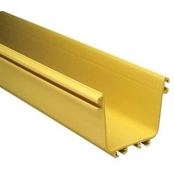FiberGuide Fiber Management Systems; FiberGuide Product Line System: 4x4 System Straight Section Type: Extrusion Color: Yellow
