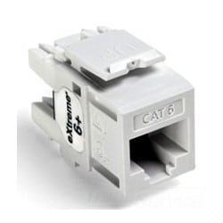 eXtreme 6+ QuickPort Connector, Category 6, White