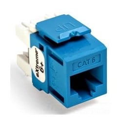 eXtreme 6+ QuickPort Connector, Category 6, Blue