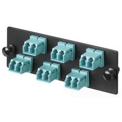 LC FAP chargé avec 12 LC Duplex adaptateurs (bleu), OS24/1-fibres monomodes OS2, zircone céramique Split manches