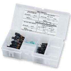 Unicam High-performance Connector, LC, 50 µm Multimode (OM3/OM4 Compatible), Ceramic Ferrule, Logo, 25 In Organizer Pack, Black Housing, Aqua Boot